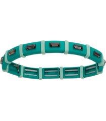 pulseira piuka geométrica turquesa