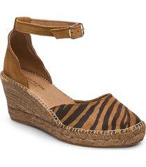 stb-salome ankle strap sandalette med klack espadrilles brun shoe the bear