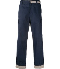 craig green d-ring belted cargo pants - blue