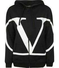 valentino hooded zipped jacket