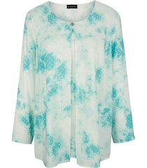 blouse m. collection turquoise::wit