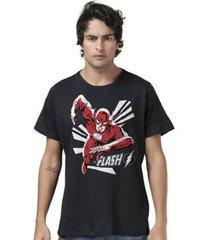 camiseta bandup! the flash in action black