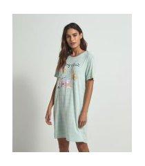 camisola manga curta estampa picnic | lov | azul | m