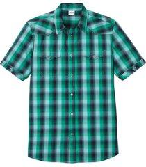 camicia a maniche corte con taschini (blu) - john baner jeanswear
