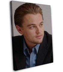 leonardo dicaprio actor star art 16x12 framed canvas print decor