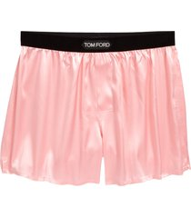 men's tom ford stretch silk boxers, size large - pink