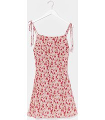 womens all ties on you floral mini dress - pink