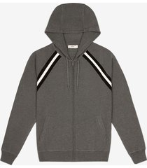 cotton knit lounge hoodie grey 60