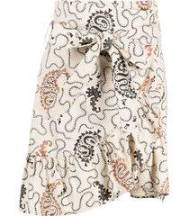 isabel marant étoile paisley print asymmetric skirt