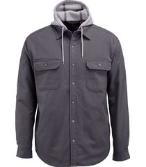 wolverine men's overman shirt jac granite, size xl