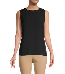 st. john collection women's shell top - caviar - size s