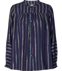 gestreepte blouse sadie  blauw