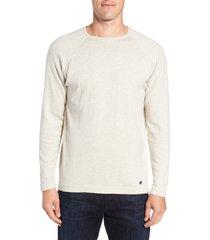 men's stone rose trim fit crewneck sweater, size xxx-large - beige