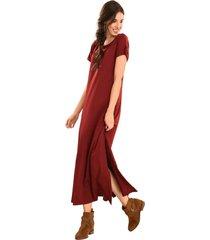 vestido ann marie rojo ragged pf11510939