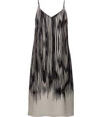 strappy print dress korte jurk zwart filippa k