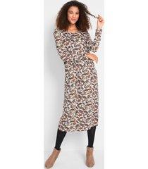 stretch jurk in midi lengte