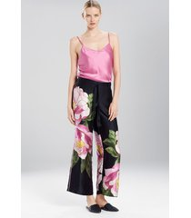 clair de lune pants pajamas, women's, black, 100% silk, size s, josie natori