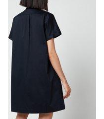 a.p.c. women's temple shirt dress - navy - fr 36/uk 8