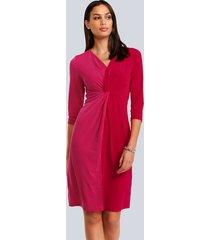 jurk alba moda pink::rood