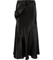 simone rocha ruffled strap midi skirt - black