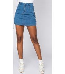 akira killer mini skirt with lace ups