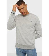 fred perry crew neck sweatshirt tröjor grey