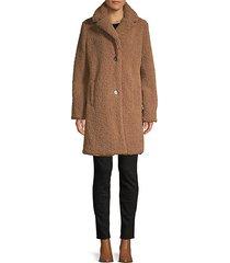 faux fur teddy coat