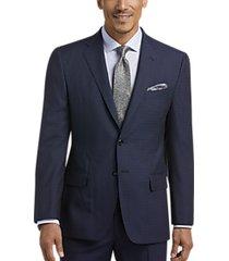 joseph abboud navy check slim fit suit