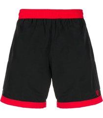alexander mcqueen skull embroidery swim shorts - black