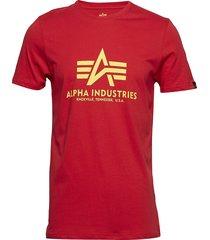 basic t-shirt t-shirts short-sleeved röd alpha industries