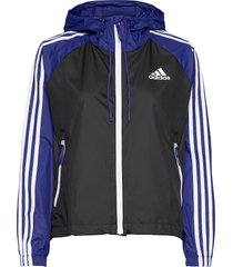 3-stripes wind jacket w outerwear sport jackets svart adidas performance