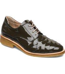 shoes - flat snörade skor låga grön angulus