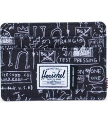 men's herschel supply co. charlie basquiat card case - white