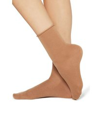 calzedonia wool and cotton short socks woman brown size tu