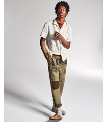 ouigi theodore for sun + stone men's patch graphic pants, created for macy's