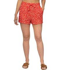 hurley juniors' naturals cotton printed shorts