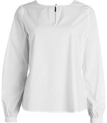 donna karan women's peplum blouse - navy - size s