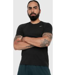 camiseta negro-gris reebok run essentials