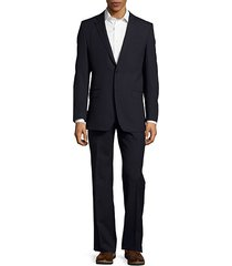regular-fit textured wool suit