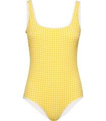 esther swimsuit baddräkt badkläder gul morris lady