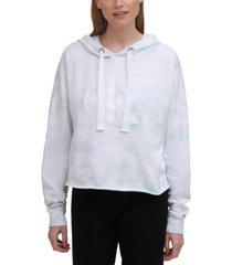 calvin klein jeans tie-dyed logo hoodie