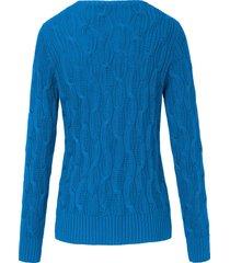 trui van 100% katoen met ronde hals van looxent blauw