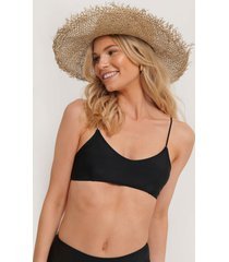 na-kd swimwear clean cut bikini bra - black