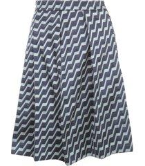 emporio armani jacquard printing pleated skirt