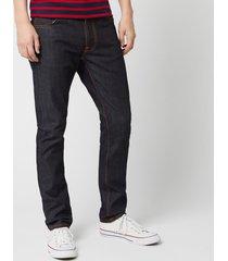 nudie jeans men's lean dean tapered jeans - dry 16 dips - w36/l32