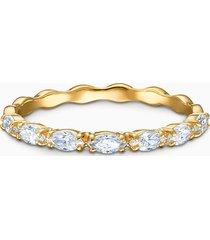anello vittore marquise, bianco, placcato color oro