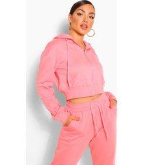 zip thru lounge hoodie, dusky pink