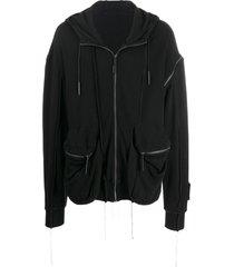 a-cold-wall* seam pocket hoodie - black