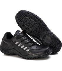 sapatenis couro tchwm shoes masculino design moderno dia dia preto - kanui