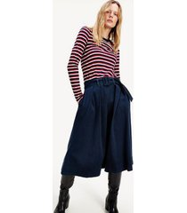tommy hilfiger women's denim midi circle skirt dark blue - 2